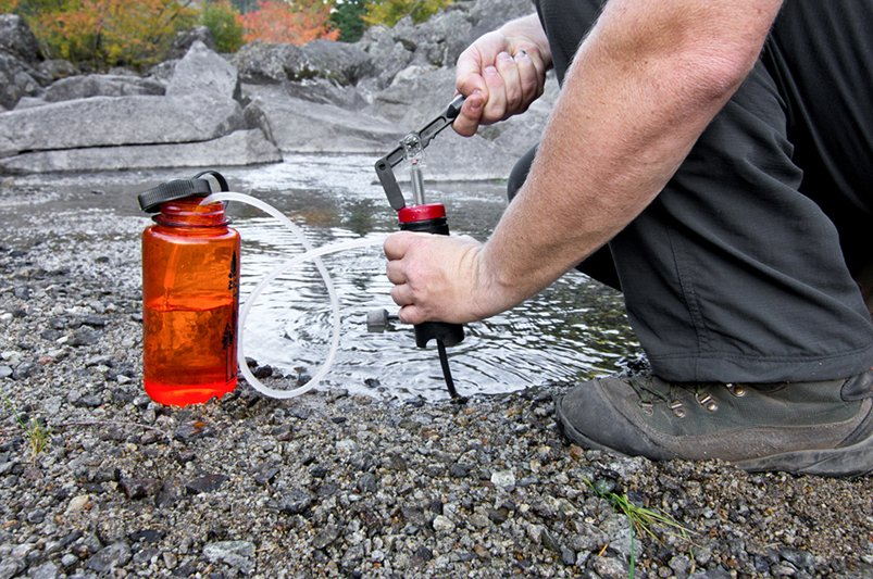 Clean water for campfire cooking