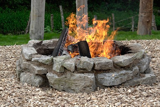 Campfire or Simple Stone Fire Pit