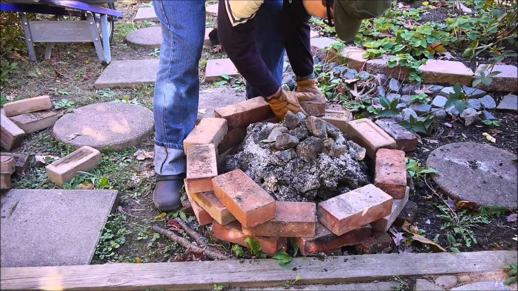 Temporary Brick Fire Pit
