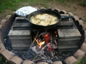 Campfire foil cooking