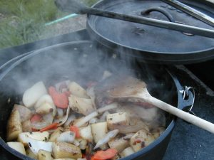 Dutch Oven Chicken Potatoes