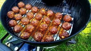 cheesy smoked meatballs