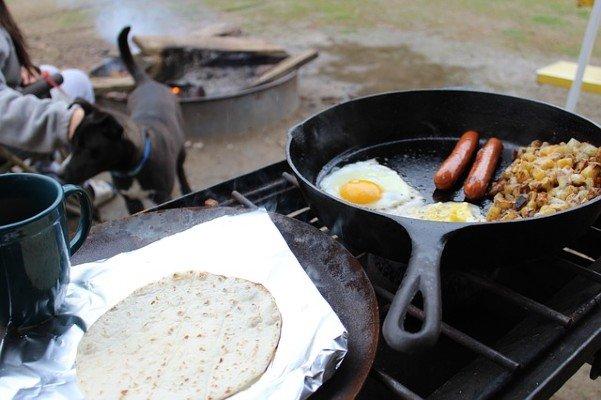easy breakfast when camping